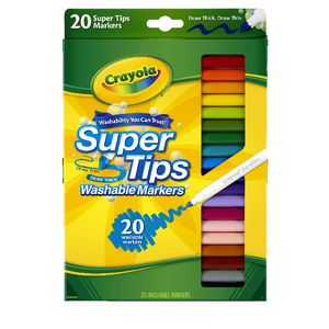 Crayola Super Tips Markers Assorted Colours 20 Pack