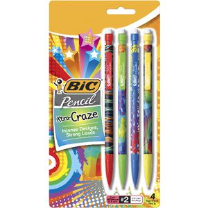 BIC Xtra Craze Mechanical Pencils 0.9 mm 4 Pack
