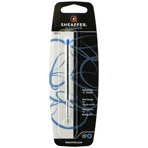 Sheaffer Ballpoint Pen Medium Refill Cartridge Blue