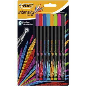 BIC Intensity Fineliner Assorted 8 Pack