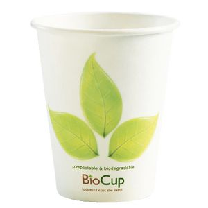 Biopak Biodegradable Cup 236mL Single Wall 1000 Pack