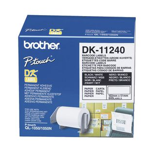Brother Multi Purpose Labels Large Black on White DK-11240