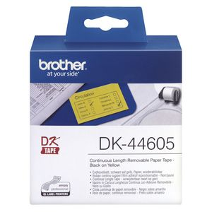Brother Continuous Length Removable Tape Yellow DK-44605