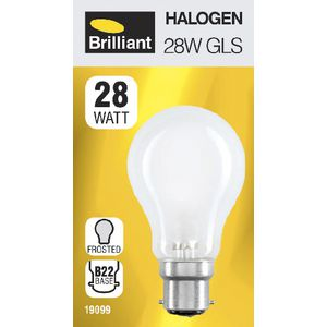 Brilliant Lighting 28W Halogen Globe BC Frosted