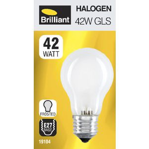 Brilliant Lighting 42W Halogen Globe ES Frosted