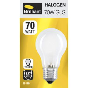 Brilliant Lighting 70W Halogen Globe ES Frosted