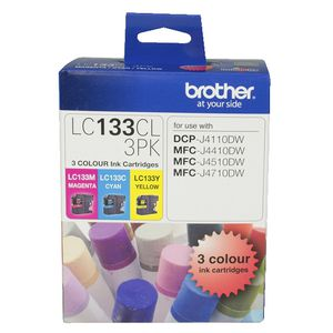 Brother LC-133 Colour Ink 3 Pack