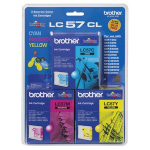 Brother LC-57 Tri-Colour Ink Value Pack