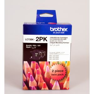 Brother LC-73 High Yield Ink Cartridge Black 2 Pack