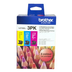 Brother LC-73 High Yield Ink Cartridge Tri-Colour Pack