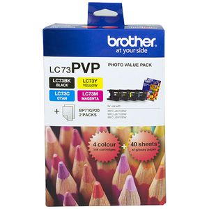 Brother LC-73 High Yield Ink Cartridge Value Pack