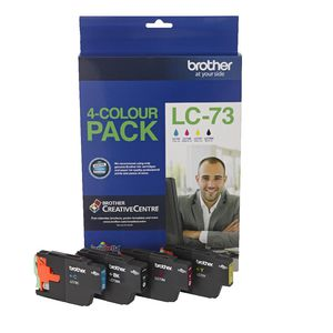 Brother LC-73 Ink Cartridge Black and Colour 4 Pack
