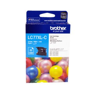 Brother LC-77XL Super High Yield Ink Cartridge Cyan
