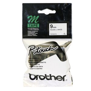 Brother Thermal M Tape 9mm x 4m Black on White