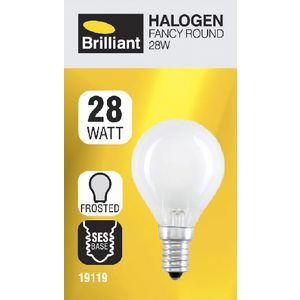 Brilliant Lighting 28W Halogen Round Globe Frosted SES
