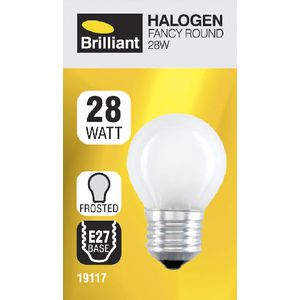 Brilliant Lighting 28W Halogen Round Globe Frosted ES
