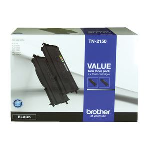 Brother TN-2150 HC Toner Cartridge Black 2 Pack