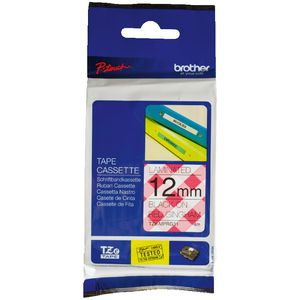Brother Ribbon 12mm x 4m Black on Red TZE-MPRG31
