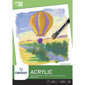 Canson A3 Acrylic Pad 245gsm 15 Sheet