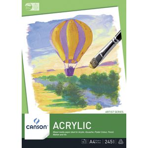 Canson 245gsm A4 Acrylic Pad 15 Sheet