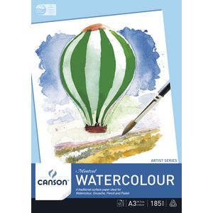 Canson Watercolour A3 Montval Pad 185gsm 12 Sheets