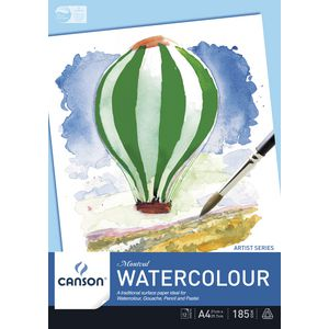 Canson Watercolour A4 Montval Pad 185gsm 12 Sheets