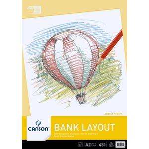 Canson A2 Bank Layout Paper Pad 45gsm 50 Sheet