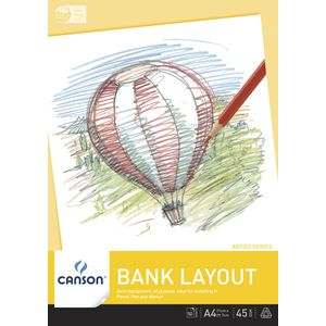 Canson A4 Bank Pad 45gsm 50 Sheet