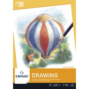 Canson A3 Drawing Pad 110gsm 50 Sheet
