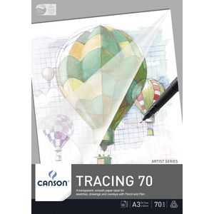 Canson Tracing Pad A3 50 Sheet 70gsm