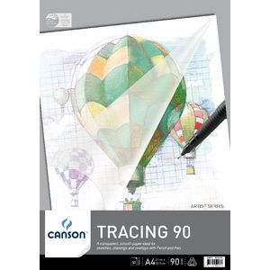 Canson A4 Tracing Pad 90gsm 50 Sheet
