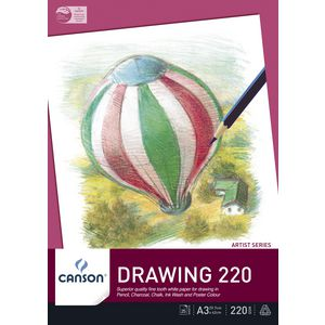 Canson 220gsm A3 Drawing Pad 25 Sheets