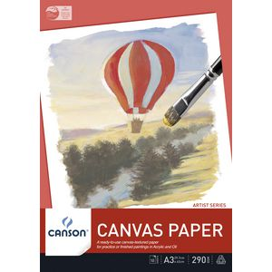 Canson 290gsm A3 Canvas Pad 10 Sheet