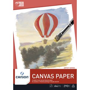 Canson Canvas Pad A4 10 Sheet 290gsm