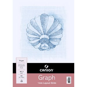 Canson A3 Graph Pad 1mm 40 Sheet