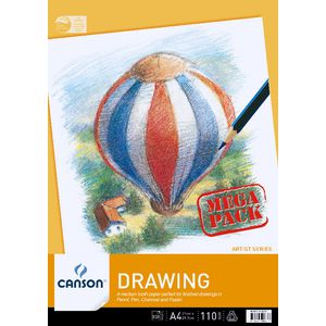 Canson A4 Drawing Pad 110gsm 100 Sheet