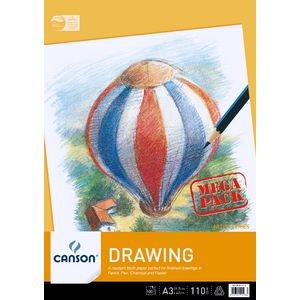 Canson A3 Drawing Pad 110gsm 100 Sheet