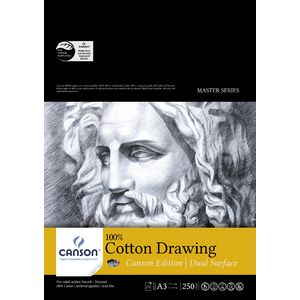 Canson A3 Cotton Paper Pad 250gsm 20 Sheet