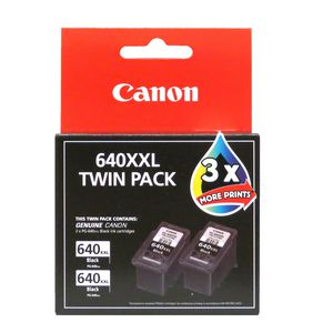 Canon PG640 XXL Ink Cartridge Black Twin Pack