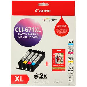 Canon 671XL Photo Value Pack