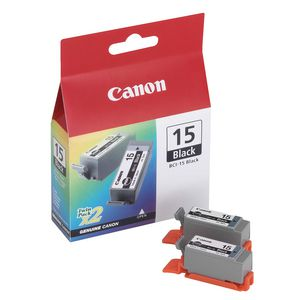 Canon BCI-15 Ink Black Twin Pack