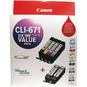 Canon Ink Cartridge Value Pack CLI671PLUSA5VP