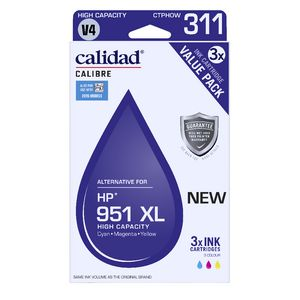 Calidad Alternative HP 951 XL Ink Cartridge Colour 3 Pack