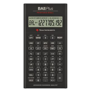 Texas Instruments Financial Calculator BAII Plus Professional