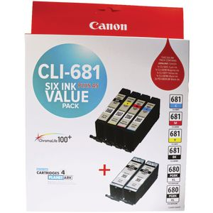 Canon CLI-680 and PGI-681 Ink Cartridge Value Pack
