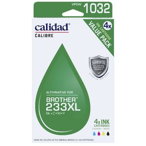 Calidad Alternative Brother 233 Ink 4 Pack