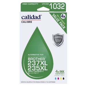 Calidad Alternative Brother 235 Ink 4 Pack