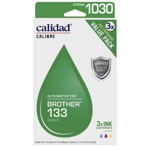 Calidad Alternative Brother 133 Ink Cartridge Colour 3 Pack