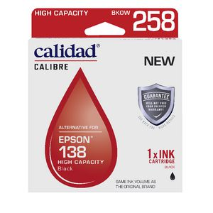 Calidad Alternative Epson 138 Ink Cartridge Black