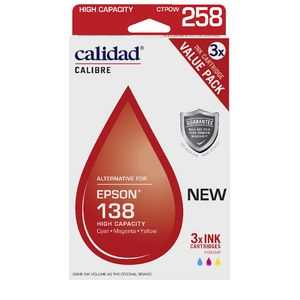 Calidad Alternative Epson 138 Ink Cartridge Colour 3 Pack